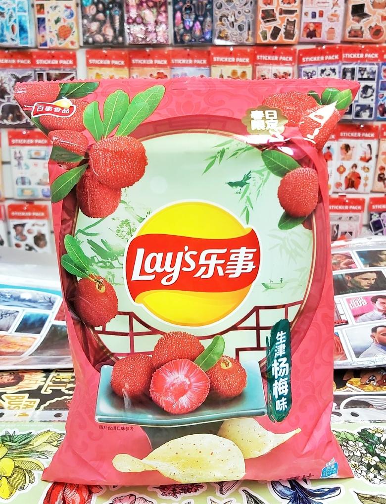 Чипсы Lay's со вкусом клубники Янгмей
