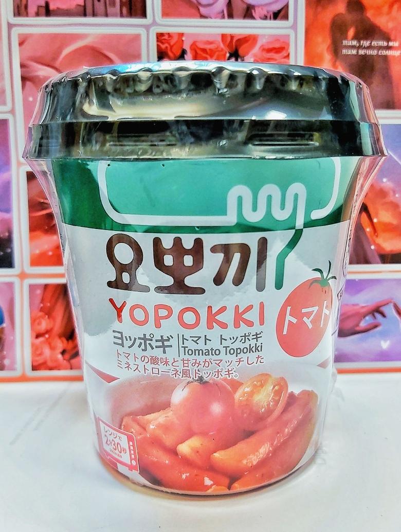 Рисовые клецки (топокки) с томатным соусом