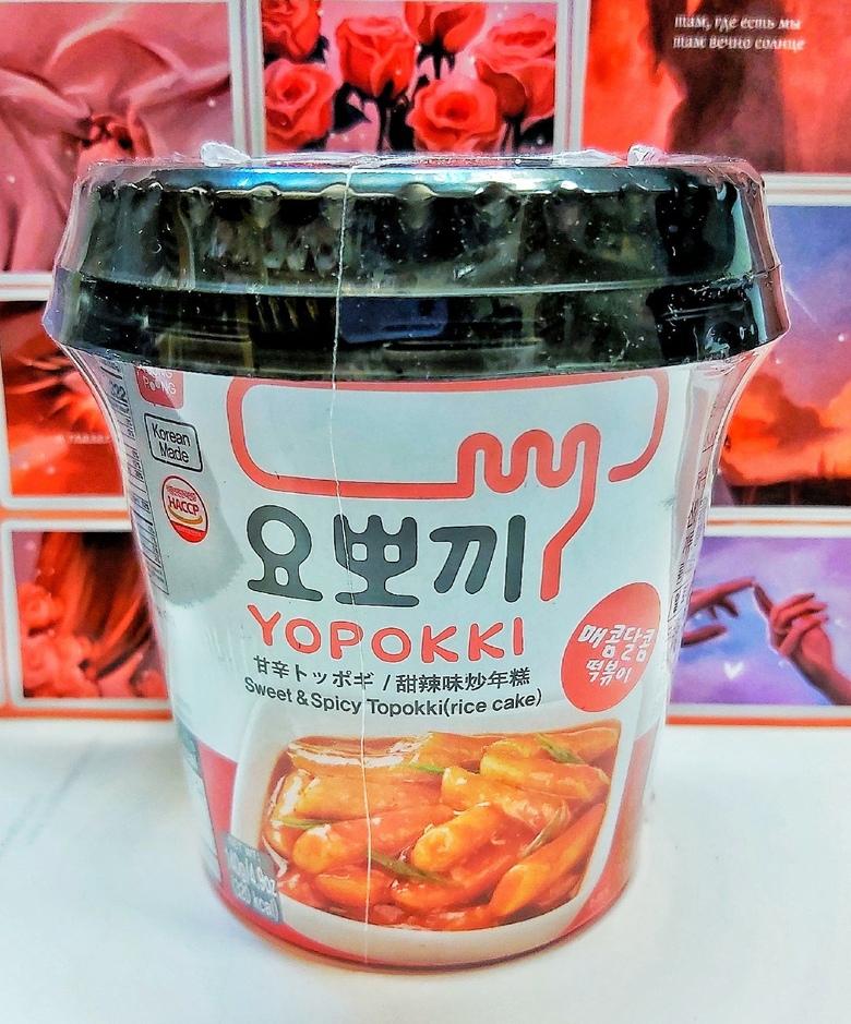 Рисовые клецки (топокки) с остро-сладким соусом, 120 г
