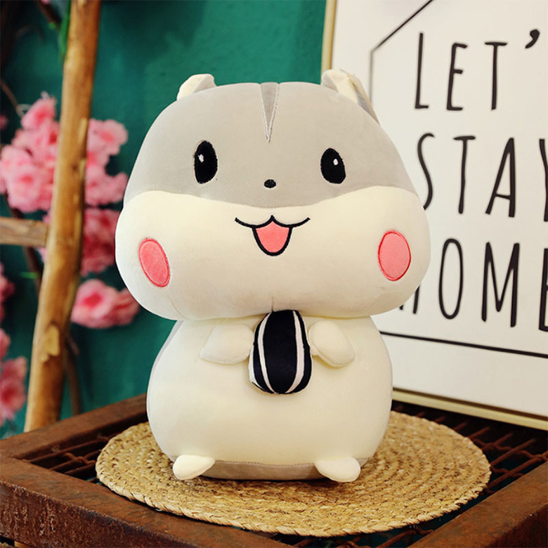 Мягкая игрушка Хомяк/Hamster (серый)