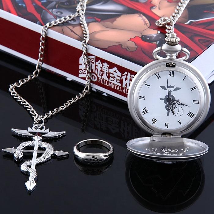 Часы Стальной алхимик/Fullmetal Alchemist (кулон и часы)