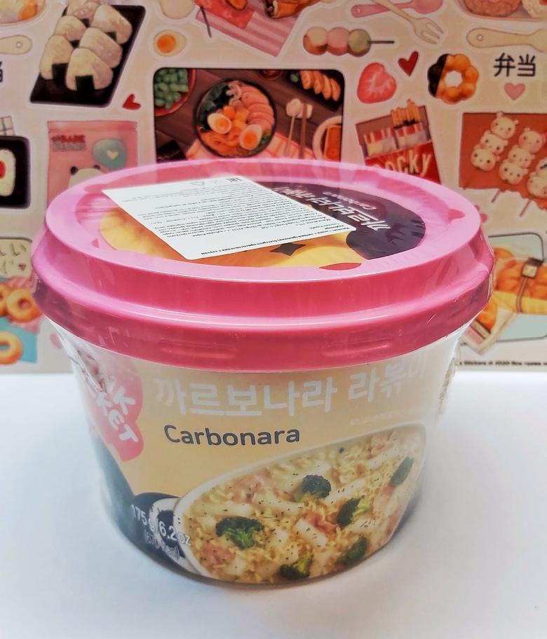 Рисовые клецки (рапокки) с соусом карбонара