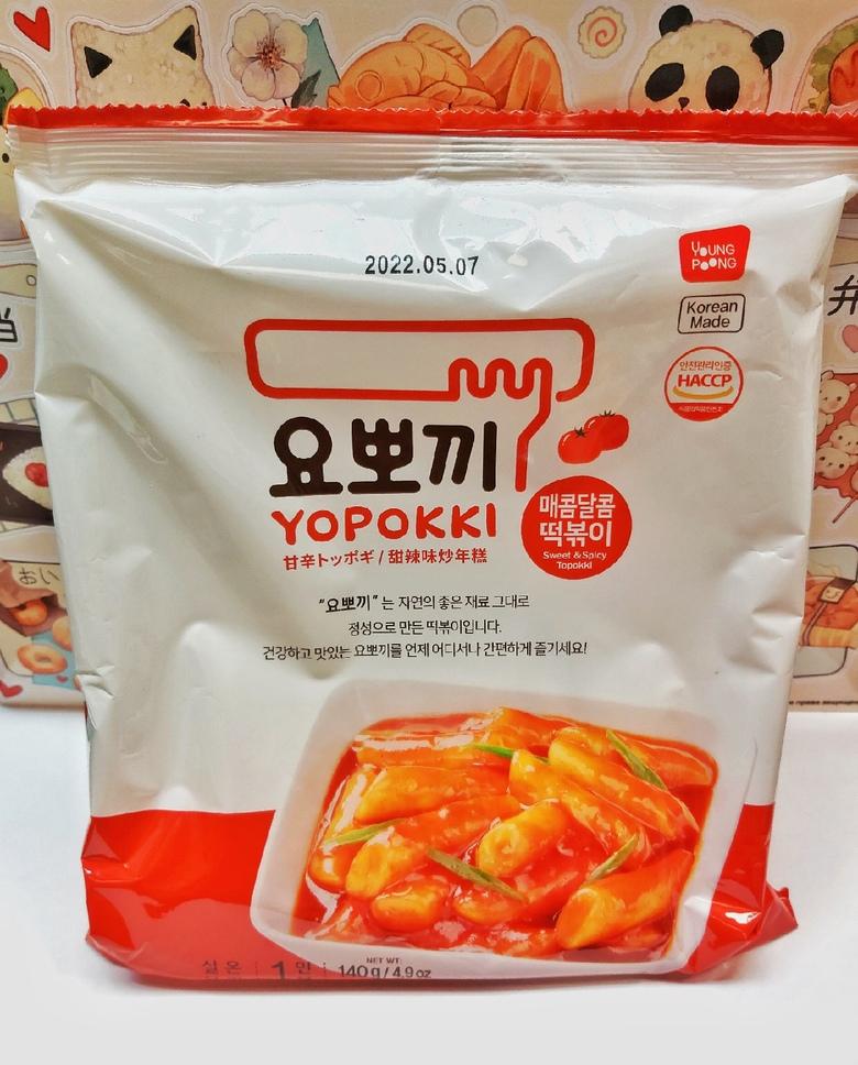 Рисовые клецки (топокки) с остро-сладким соусом (пачка, 120 г)
