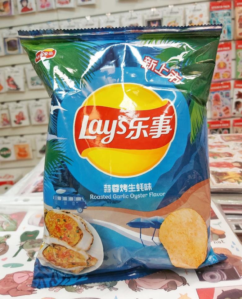 Чипсы Lay's со вкусом устрицы и жареного чеснока