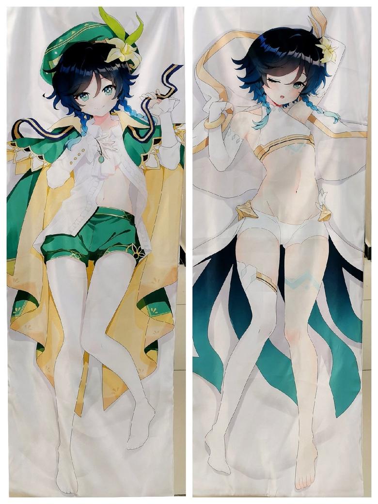 Декоративная подушка дакимакура Genshin Impact (1)