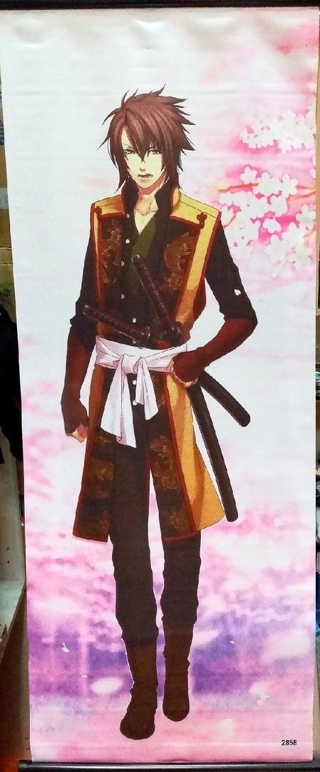 Тканевый плакат Сказание о демонах сакуры/Hakuouki (1)