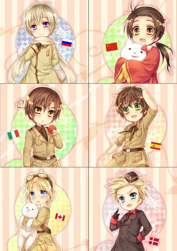 Набор наклеек Хеталия и страны Оси/Hetalia: Axis Powers №5
