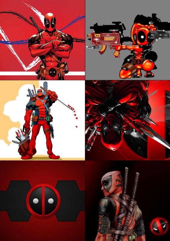 Набор наклеек Дэдпул/Deadpool №3