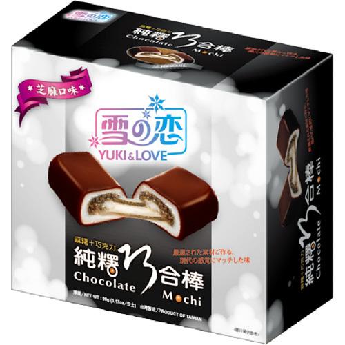 Шоколадный моти-ролл с кунжутом