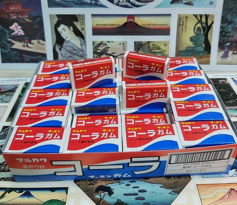 "Жевательная резинка ""Marukawa"", йогурт"