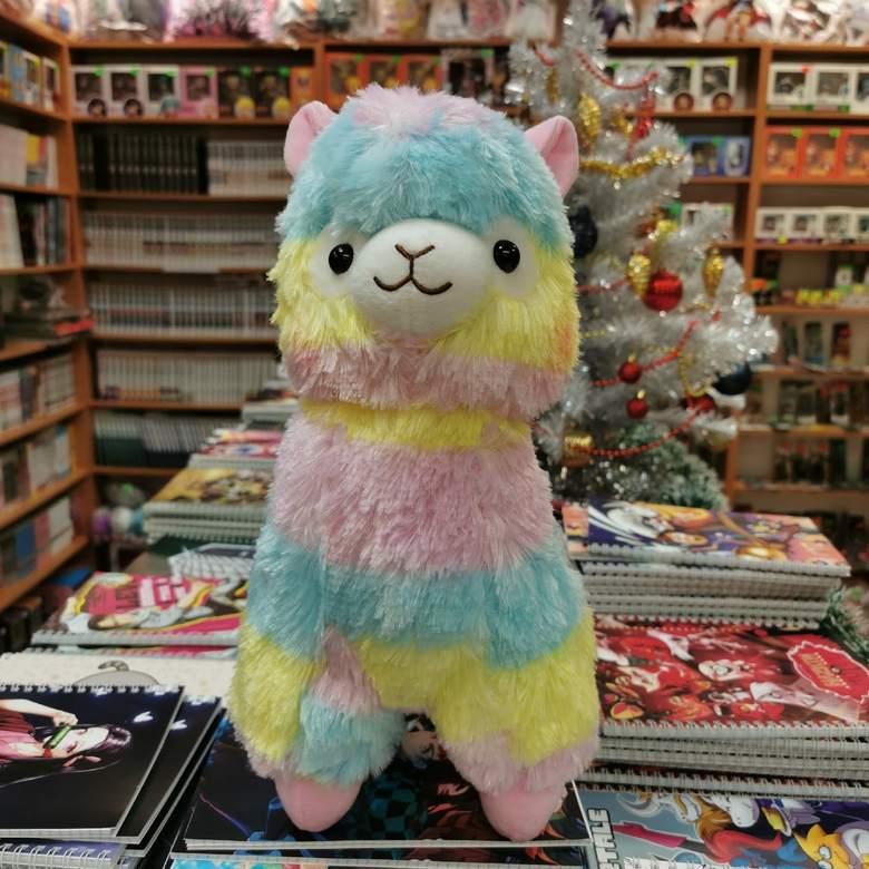Мягкая игрушка Альпака/Alpaca (радужная, 40 см)
