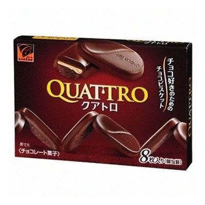 """Печенье """"Quattro"""", сливочный крем в горьком шоколаде"""