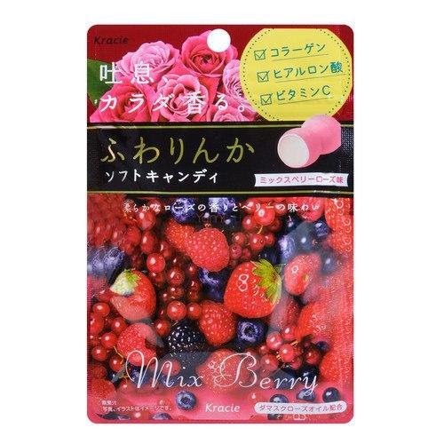"""Жевательная конфета """"Kracie"""", ароматная роза и ягодный коктейль"""