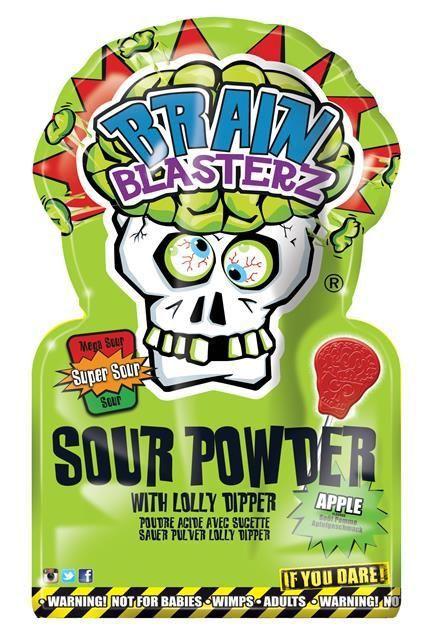 Леденец «Brain Blasterz» с кислым сахарным порошком, яблоко