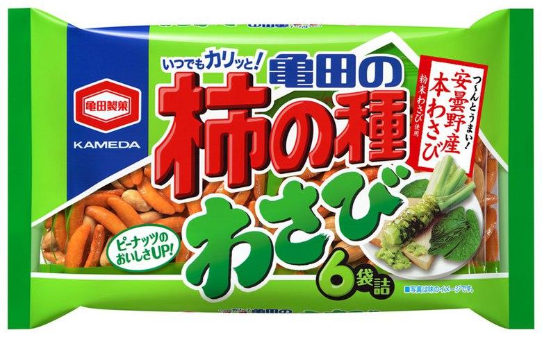 """Арахис в рисовой муке """"Peanuts Kakinotane"""", с васаби (большая упаковка)"""