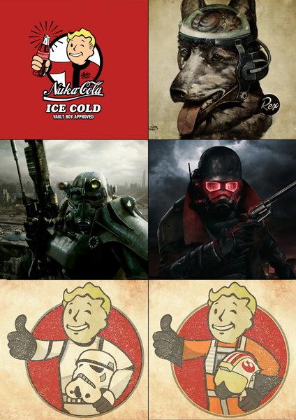 Набор наклеек Fallout №1